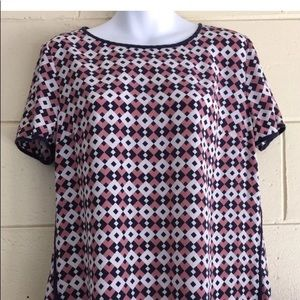J crew patterned top